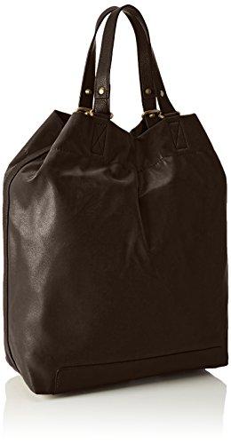 15x41x33 X H Cm Marrón Mujer Mit Esprit Brown Lado Innenleben Dark Praktischem Para Medio Bolsa b De T 200 zOnq4xRO