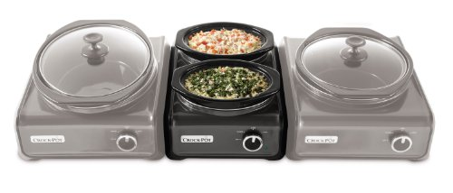 Crock-Pot SCCPMD1-CH Hook Up Connectable Entertaining System, Double Oval 1-quart, Metallic Charcoal