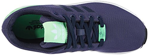 adidas ZX Flux, M1945  Damen Sneakers Blau (Collegiate Navy/Collegiate Navy/Light Flash Green)