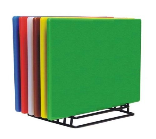 """New Set of 6 Assorted Colors Cutting Boards Non-Skid Surface Small 18"""" x 12"""" *NSF Listed*"""