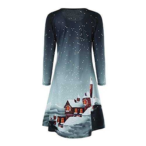 Imprimé Mariage Femme Soiree Longues Angelof Merry Neige Christmas Robe Gris Chic Hiver Manches Longue Tops pwwqtOBS