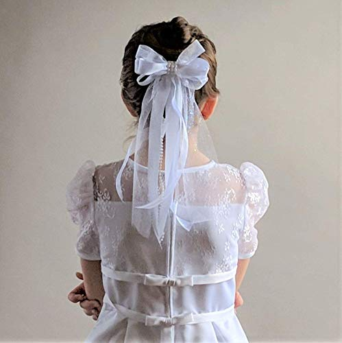 Girl's First Communion Bow Headpiece