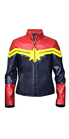 Captain Marvel Carol Danvers Leather Jacket - Halloween Sale Offer (XL)