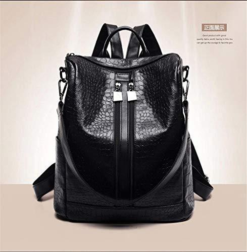 Nero Wild Fashion Leather Zaino New Tide Bag Battier Soft 2019 Casual wqSnxOva