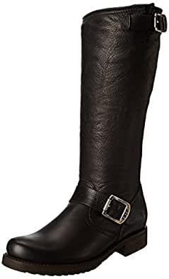 FRYE Women's Veronica Slouch Boot, Black Soft Vintage Leather, 5.5 M US