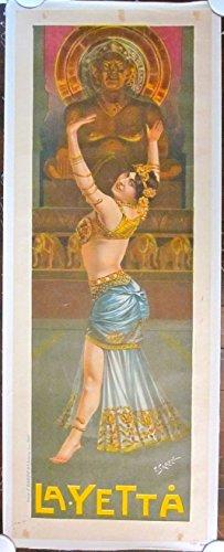 REDUCED CIRCA 1900 LB POSTER - LA-YETTA - BEAUTIFUL ANCIENT DANCER ARTWORK