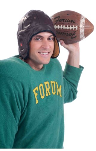 Forum Novelties Vintage Football Player Brown Costume Helmet