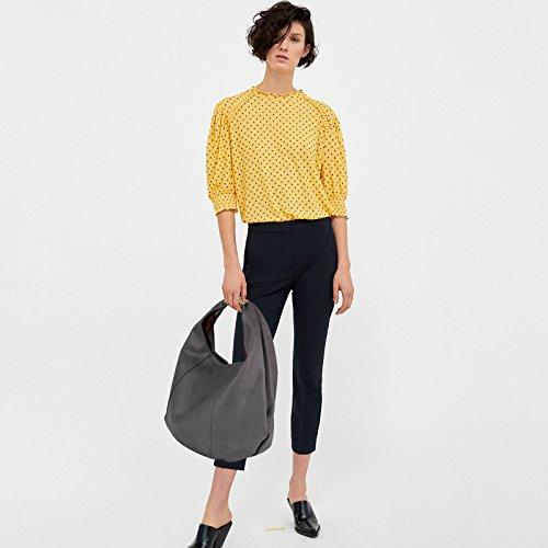 Bag Eva Top PU Women amp;Evan Handle bag Grey Shoulder Leather large capacity Dark IHqrwIUnB