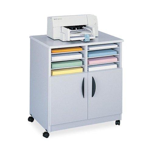 SAFCO Mobile Laminator Stand, 6-Shelf Sorter, 28-1/8 x 19-3/4 x 30-1/2, Gray (Case of 2)