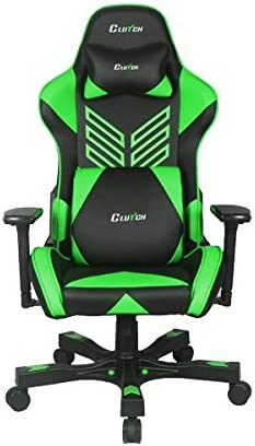 CLUTCH CHAIRZ Crank Series Onylight Edition World s Best Gaming Chair Black Green Racing Bucket Seat Gaming Chairs Computer Chair Esports Chair Executive Office Chair w Lumbar Support Pillows