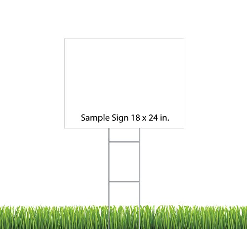 Sturdy Wire H Stake - Yard Stake for Corrugated Signs (Pa...