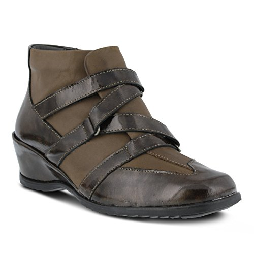Step Women's Allegra Spring Brown Patent Bootie Ankle Pzqwdw