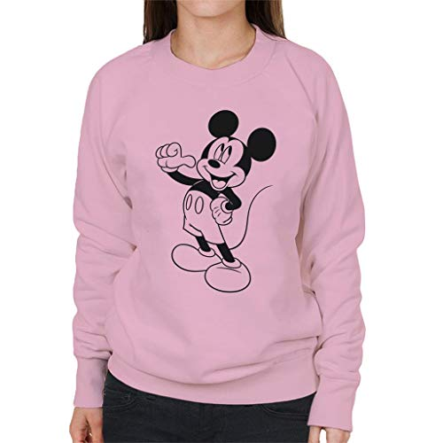 Disney Mickey Mouse Classic Black Sketch Sweatshirt voor dames