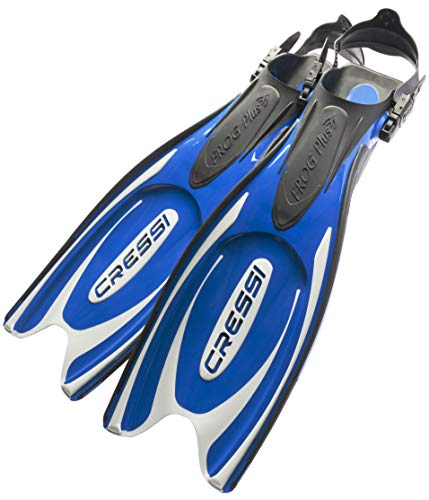Cressi Adult Powerful Efficient Open Heel Scuba Diving Fins   Frog Plus: made in Italy