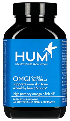 HUM OMG! Omega the Great - Omega 3 Fish Oil to Support Even Skin Tone (60 Softgels)