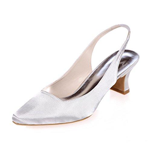 Noche Zapatos Verano De Femeninos Disponibles Blanco Acentuada Partido Otoño Seda Boda yc La Y L Del Colores Primavera Más P0BF5wqtn