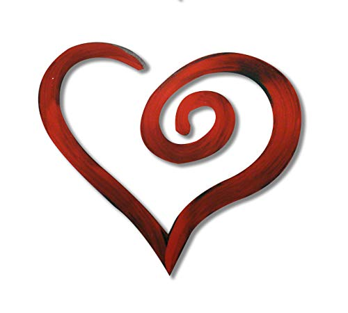 Letter2Word Swirl Heart Wall Decor - Red ()