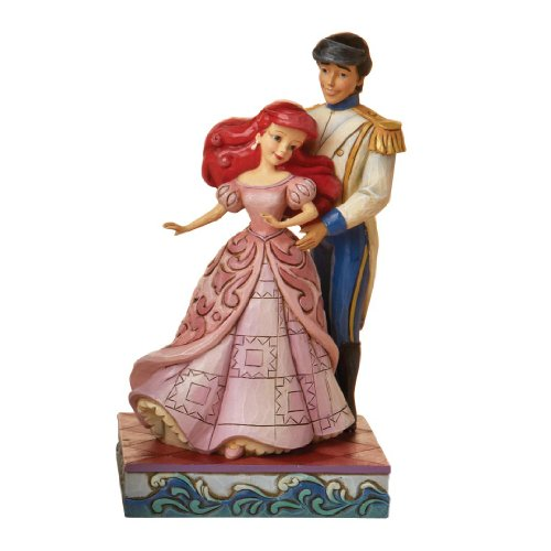 Enesco Disney Traditions by Jim Shore 4015337 Ariel and Prince Dancing Figurine 6-Inch