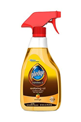 Spray Cleaner Orange Oil Trigger - Pledge Revive It Restoring Oil, Orange 16oz (3-Pack, Packaging May Vary)