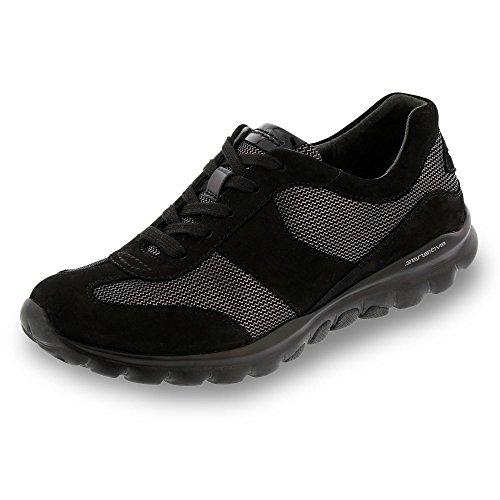Ajuste Zapatilla Soft Gabor En Black Mujer Negro De Rolling Zapatos Amplios Helen Más La Tqwqv8