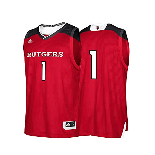 adidas Rutgers Scarlet Knights NCAA 1 Maroon Replica Basketball Jersey (M)