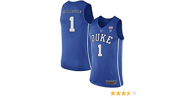 effd078b7aba Amazon.com  Men s Zion Williamson  1 Duke Devils College Blue Basketball  Stitched Jersey  Clothing