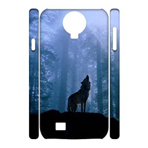 case Of Wolf 3D Bumper Plastic Cell phone Case For Samsung Galaxy S4 i9500