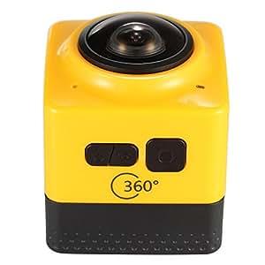Docooler Super Mini Panorama Cámara 360 Grados Cubo 24FPS1280x720 Wifi Ojo de Pez de Visión Amplio Gran Angular Al aire Libre Deportes de Acción Videocámara