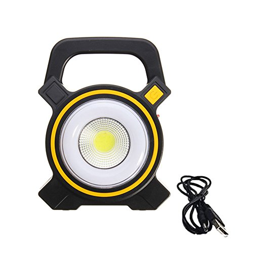GZQ LED Camping Light Portable Emergency Solar USB Tent Lantern COB Work Spot Lamp for Outdoor Backpacking Camping Hiking Hurricane Biking Patio Picnic Fishing Hunting (Yellow)