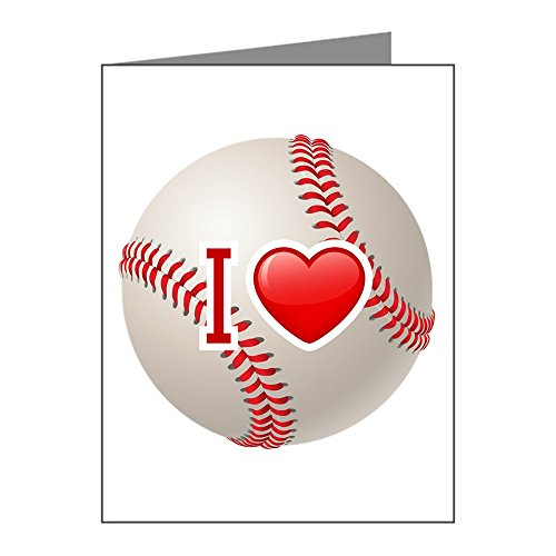 (Note Card I Love Baseball)