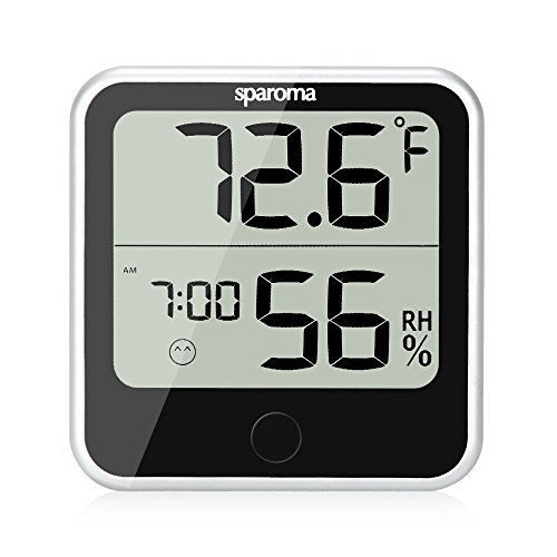 Indoor Humidity Temperature Monitor – Digital Hygrometer Humidity Meter with Temperature Humidity Gauge, Built-in Clock and Time Display for Temperature Humidity Measurement (Modern Baby Wall Clock)