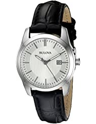 Bulova Womens 96M129 Analog Display Quartz Black Watch