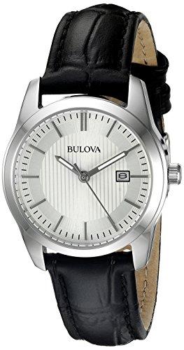 Bulova Women's 96M129 Analog Display Quartz Black Watch