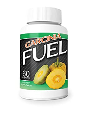 Fuel Garcinia- 60% HCA, Pure Garcinia Cambogia Extract - Extra Strength - Natural Weight Loss Supplements - Carb Blocker & Appetite Suppressant - All Natural Diet Pills for Women & Men - 60 Capsules