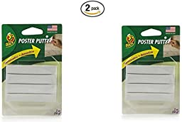 Duck Brand Removable Mounting Poster Putty, 2 oz., White (1436912) (2 pack)
