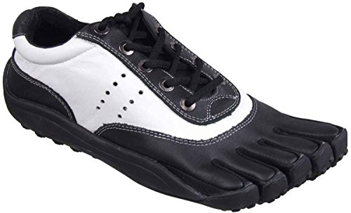 Fut Glove Men's 1 Up Five Toe Athletic/Golf Shoes (41 M EU / 8-8.5 (D) M US, Black/White)
