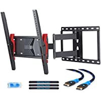 Mounting Dream MD2722 TV Wall Mount Bracket for most of 26-55 Inch LED, LCD, OLED and Plasma Flat Screen TV with Full Motion Swivel Articulating Arm up to VESA 400x400mm and 77 lbs with Tilting