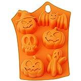Halloween Pumpkins Skulls Ghost Non-stick Silicone Baking Mold, 7'' x 9''