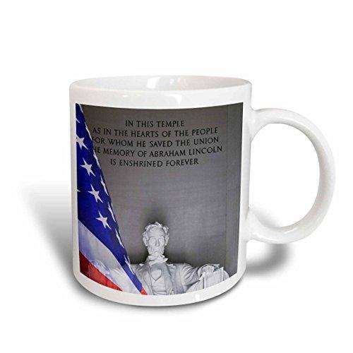 3D Rose 88984_5 Washington DC Lincoln Memorial and American flag US09 BJA0076 Jaynes Gallery Two Tone Ceramic Mug - Mug Memorial