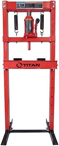 INTBUYING Hydraulic Shop Press Floor Press 12 Ton H Frame Auto Repair Tool