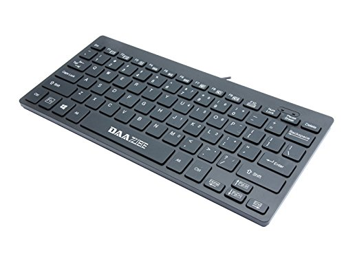 DAAZEE Small Keyboard Light Portable 78 Keys Keyboard Ultra-Slim Wired USB Multimedia Mini Keyboard for Pc Computer Laptop, PS3 Xbox360 tabletPC Android Mac