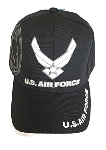 [U.S. Military Air Force Cap Officially Licensed Sealed (Black 3)] (Hats 4 U)