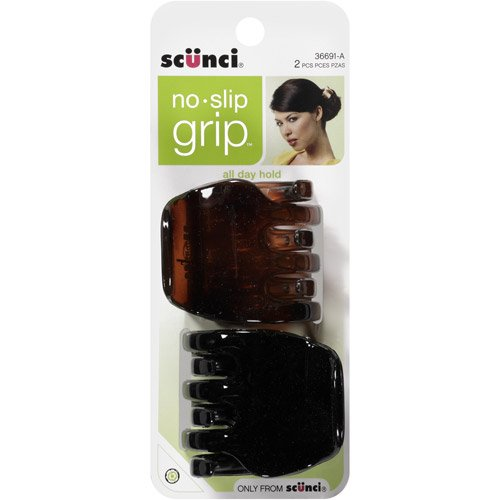 - Scunci No-Slip Grip Chunky Jaw Clips | All Day Hold | 2-Pieces per Pack (1-Pack)