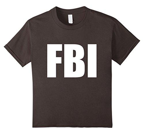 Kids FBI Replica Agent Inspector Funny Halloween Costume T-Shirt 8 Asphalt (Halloween Costume Shirts)