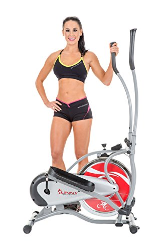Sunny Health & Fitness SF-E1405 Flywheel Elliptical Trainer, Gray