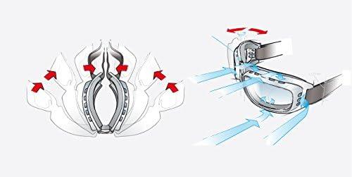 //élastique R/églable/ Bertoni Lunettes Moto avec Verres Anti-Rayures//Anti-bu/ée Antifog/ /af112/by Masque Moto pour Casque Nero Gomma-B Adulte Mixte