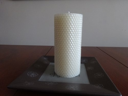 Pillar Beeswax Candle (Beeswax-Hand-Rolled Honeycomb Pillar Candle 3
