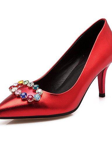 la las en ZQ Textiles tac¨®n dedo de Home pie punta 3in de talones boda novedad del amp; la de de fiesta zapatos tac¨®n mujeres red 3 3 4in de aguja 3 3in 4in zapatos del 3 de silver PwSw1q5