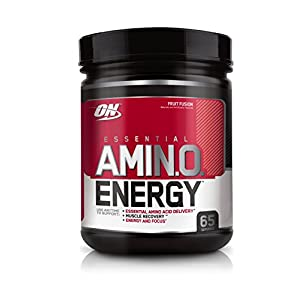 OPTIMUM NUTRITION ESSENTIAL AMINO ENERGY, Fruit Fusion, Preworkout and Essential Amino Acids with Green Tea and Green Coffee Extract, 65 Servings