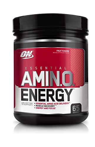 Optimum Nutrition Amino Energy, Fruit Fusion, Preworkout and Essential Amino Acids with Green Tea and Green Coffee Extract, 65 Servings